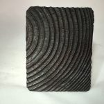 Untitled #1173 burnt wood slice (sold)