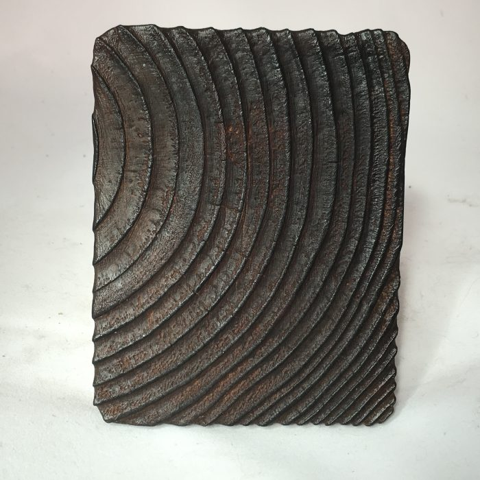 Untitled #1174 burnt wood slice (sold)