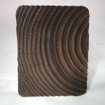 Untitled #1176 burnt wood slice (sold)