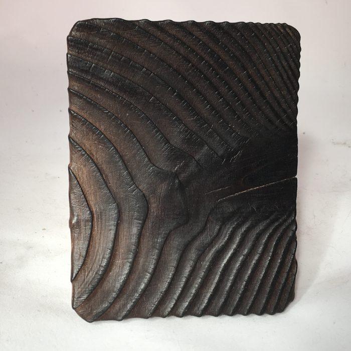 Untitled #1177 burnt wood slice (sold)
