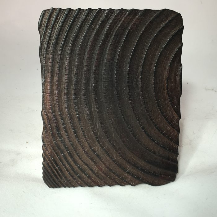 Untitled #1178 burnt wood slice (sold)
