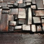 Untitled #2002 burnt wood plaque