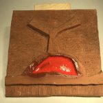 Untitled #1199 ceramic panel