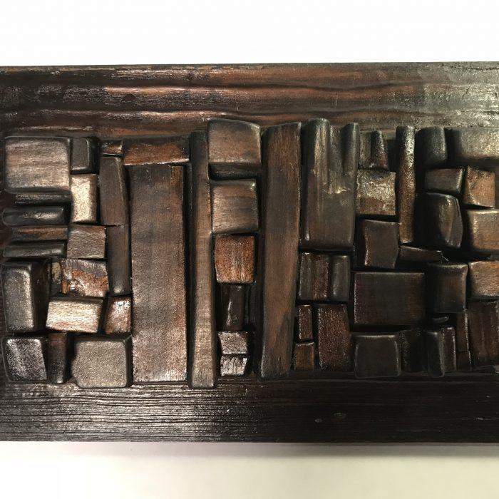 Untitled #2001 burnt wood plaque