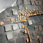 Untitled #1209 ceramic cross plaque
