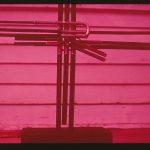 Untitled #1214 brass instrument cross