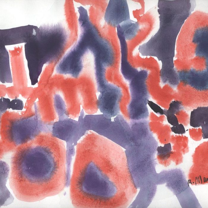 Untitled #1262 Watercolor Abstract with Study on Reverse