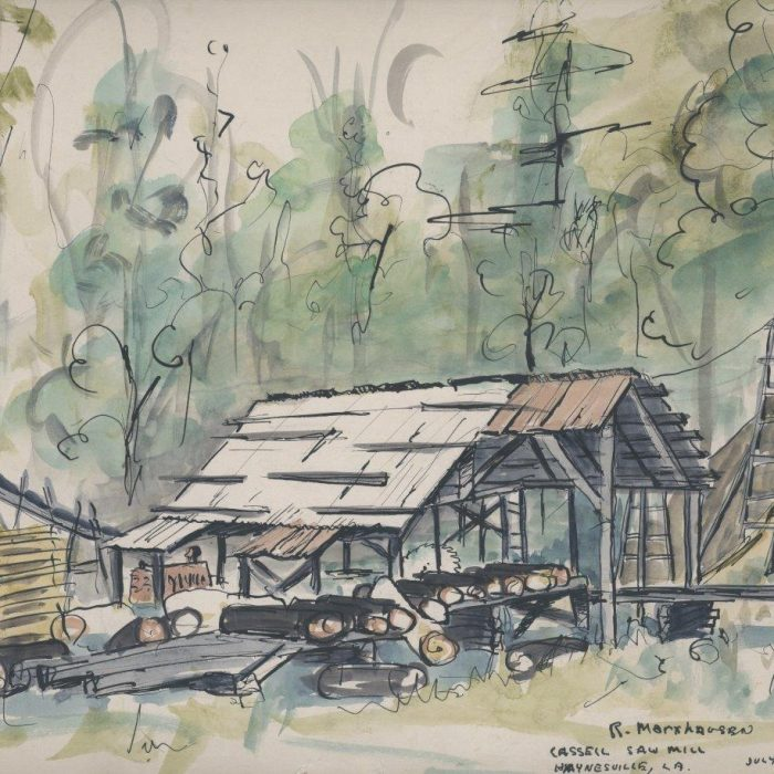 Untitled #1266 Watercolor and Ink Cassell Saw Mill (sold)