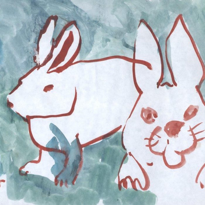 Untitled #1274 Watercolor Bunnies (sold)